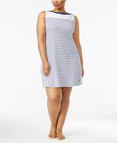 Nautica Plus Size Striped Knit Sleepshirt