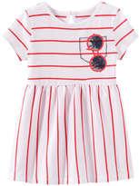 Joe Fresh Baby Girls' Graphic Dress, Red (Size 12-18)