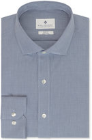 Ryan Seacrest Distinction Non-Iron Slim-Fit Dark Blue Houndstooth Dress Shirt