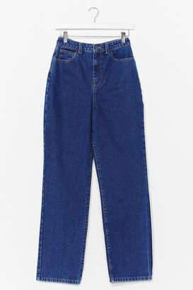 Nasty Gal Womens A Real Straight Leg High-Waisted Jeans - Blue - 8