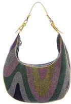 Emilio Pucci Leather-Trimmed Knit Hobo