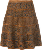 D-Exterior D.Exterior patterned flare skirt
