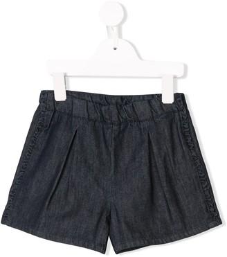 Knot short denim shorts