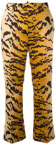 DSQUARED2 tiger-print tailored trousers - women - Polyester - 38