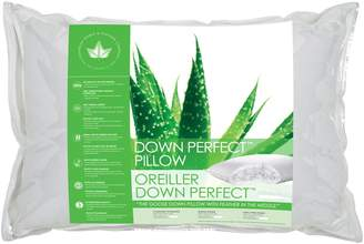 Canadian Down And Feather Back Sleeper White Goose Down Perfect Pillow
