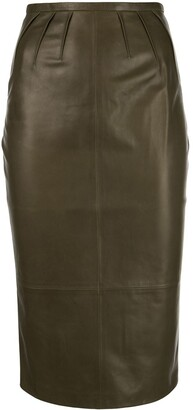 Rochas Lambskin Pencil Skirt