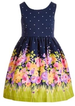 Bonnie Jean Little Girls Bow-Back Floral Dress
