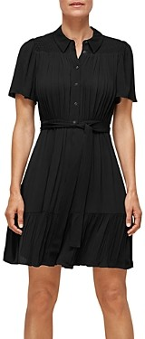 Whistles Tate Smocked Belted Dress