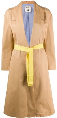 Semi-Couture Open-Front Trench Coat