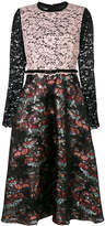 Antonio Marras floral lace panel dress