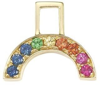 Robinson Pelham EarWish 14K Yellow Gold, Sapphire & Tsavorite Rainbow Single Earring Charm