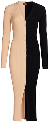 STAUD Shoko Sweater Midi Dress