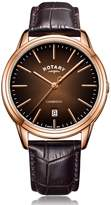 Rotary Watches Rotary Mens Rose Gold Pvd Cambridge Watch