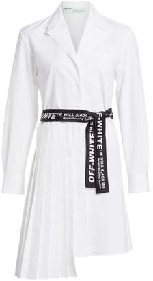 Off-White Off White Panel Cotton Shirtdress