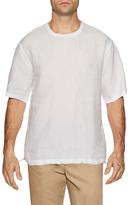 Shades of Grey by Micah Cohen Linen Drawstring Hem Sweatshirt