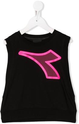 Diadora Junior Logo-Print Sleeveless Top
