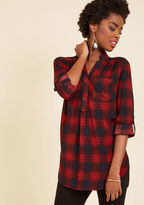 ModCloth At-Home Editor Plaid Tunic in 2X