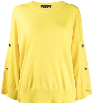 Boutique Moschino Silver-Tone Button Knit Jumper