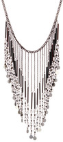 Stephan & Co Fringe Disc Statement Necklace