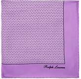 Ralph Lauren Purple Label Men's Rectangle-Print Silk Pocket Square