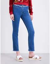 See by Chloe Ladies Washed Indigo Concealed zip Frayed-Hem Skinny High-Rise Jeans