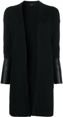 AllSaints Essy long leather-cuff caridgan