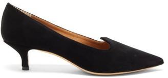 Le Monde Beryl - Velvet Kitten-heel Pumps - Womens - Black