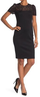 Calvin Klein Lace Yoke Sheath Dress