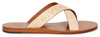 Givenchy Crisscross Logo Leather Sandals