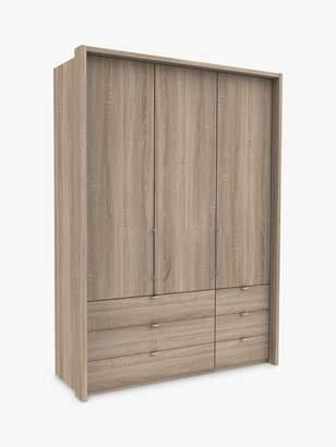 John Lewis & Partners Pirna Bi Fold 150cm 3 Door Wardrobe with 6 Drawers