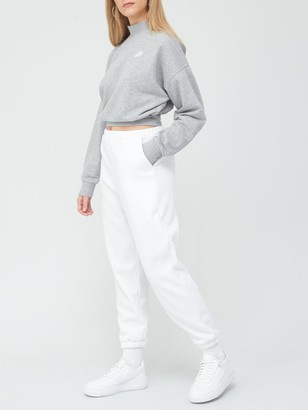 Nike NSW Essential Collar Sweatshirt - Dark Grey Heather