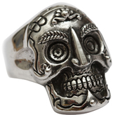 Femme Metale Jewelry Tibetan Skull Ring