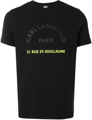 Karl Lagerfeld Paris Rue St-Guillaume-print slim-fit T-shirt