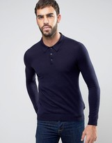 Ted Baker Knitted Long Sleeve Polo