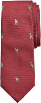 Brooks Brothers Reindeer Silk Tie