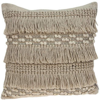 BEIGE Parkland Collection Paloma Bohemian Pillow Cover with Polyester Insert