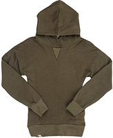 Lennon and Wolfe Cotton French Terry Hoodie-GREEN