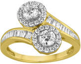 MODERN BRIDE Two Forever 1 C.T. TW. Diamond 14K Yellow Gold Ring