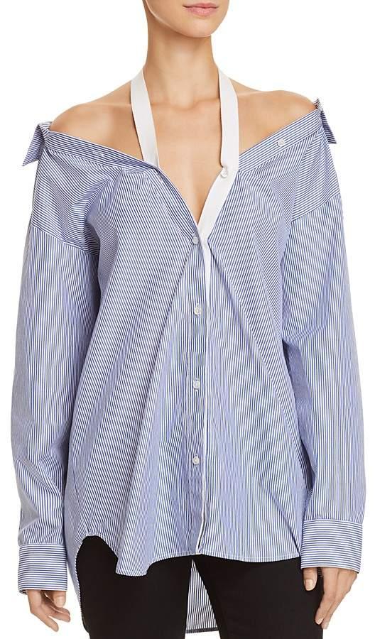 Alexander Wang Cold-Shoulder Shirt