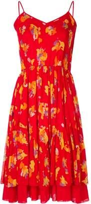 Christian Dior Floral Flared Dress