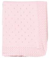 Mayoral Pink Bear Intarsia and Bow Knit Blanket
