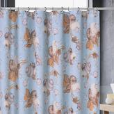 Brown Shell Shower Curtain