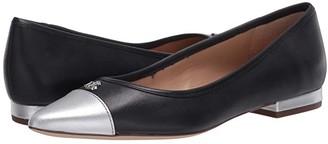 Lauren Ralph Lauren Halena (Lauren Navy/Bright Silver) Women's Sling Back Shoes