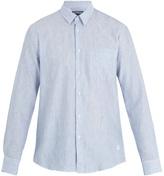 Vilebrequin Caroubis striped linen and cotton-blend shirt