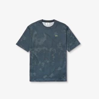 Lacoste Mens LIVE Loose Fit Tie-Dye Cotton Jersey T-shirt