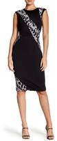 Rachel Roy Cap Sleeve Lace Inset Sheath Dress