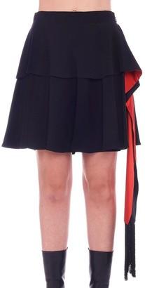 Alexander McQueen Ruffled Asymmetric Mini Skirt