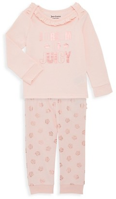 Juicy Couture Baby Girl's 2-Piece Top Pant Set