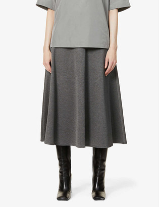 Max Mara Ostile flared stretch-knit midi skirt