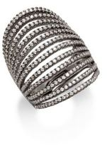 Noir Multilayered Crystal Set Ring